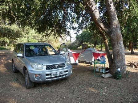 Rav4 & tents