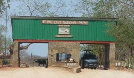 Tsavo East National Park Entrance