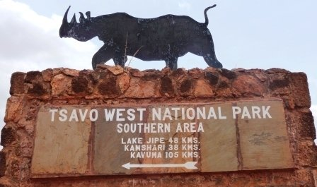 Tsavo West National Park Entrance